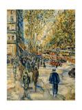 Champs Elysee Giclee Print by Jean Francois Raffaelli