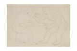 Wrestlers, c.1913 Giclee Print by Henri Gaudier-brzeska