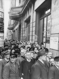 East Berliners Waiting at a Currency Exchange Point Following the Currency Reform… Photographic Print by  German photographer