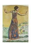 Joyous Woman, 1911 Gicleetryck av Ferdinand Hodler