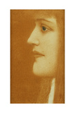 Study of a Woman in Profile, 1910 Giclee Print by Fernand Khnopff