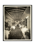 The Palm Room Restaurant at the Hotel Lorraine, 1923 Giclee Print by  Byron Company