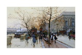 Near the Louvre, Paris Giclee Print by Eugene Galien-Laloue