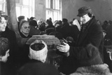 """German Refugees Sheltering in a """"Warmth-Hall"""", Berlin, 20th February 1947 Photographic Print by  German photographer"""