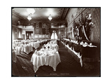Tables Set in the Banquet Room at Hotel Delmonico, 1902 Giclee Print by  Byron Company