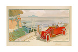 'On the Road to Naples', Advertisement for Renault Motor Cars, Printed by Mabileau and Co, Paris,… Giclee Print by Aldelmo