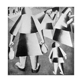 In the Fields Giclee Print by Kasimir Malevich