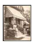 A Woman Seated at the Entrance to a House, 1915 Giclee Print by  Byron Company