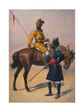 Soldiers of the 1st Duke of York's Own Lancers (Skinner's Horse) Hindustani Musalman and 3rd… Giclee Print by Alfred Crowdy Lovett