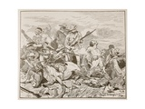'They Fought on Grimly', Illustration from 'Battles of the Nineteenth Century' by Archibald… Giclee Print by George Soper