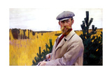 Self Portrait, 1905 Giclee Print by Boris Mikhailovich Kustodiev