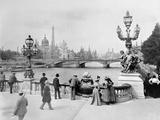 Pont Alexandre III - Exposition Universelle de Paris En 1900 Fotografie-Druck von French Photographer