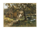 Cottage, Normandy, 1900 Giclee Print by Léon Augustin L'hermitte