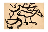 Cat Attacking Dog, 1913 Giclee Print by Henri Gaudier-brzeska