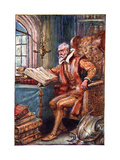 He Passed His Time in Reading Books of Knight Errantry, Illustration from 'The Adventures of Don… Giclee Print by Paul Hardy
