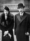 King Boris and Queen Joanna of Bulgaria Outside the Ritz Hotel, London 2nd November 1937 Photographic Print by  German photographer