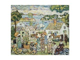 New England Harbour, c.1919-23 Giclee Print by Maurice Brazil Prendergast