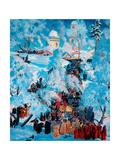 Religious Procession in a Village, 1915 Giclee Print by Boris Mikhailovich Kustodiev