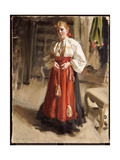 Girl in Orsa Costume, 1911 Giclee Print by Anders Leonard Zorn