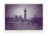 A View of the Houses of Parliament and Big Ben in the Rays of the Hunter's Moon, During the… Giclee Print by  English Photographer