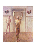 Pushing Weights with Two Arms Number 2, 1913 Giclee Print by Eugene Jansson