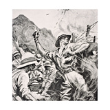 British Lieutenant W.T. Forshaw Vc, from 'The War Illustrated Album Deluxe', Published in London,… Giclee Print by  English School