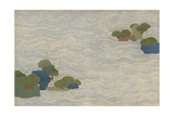 Pine Islands in a Silver Sea, from a Chigusa (A Thousand Grasses) Series, 1903 Giclee Print by Kamisaka Sekka