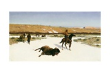 The Last of the Herd, 1906 Giclee Print by Henry Francois Farny