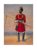 Governor's Bodyguard, Madras, Madrasi Musalman, Illustration for 'Armies of India' by Major G.F.… Giclee Print by Alfred Crowdy Lovett