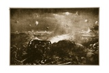 Artillery Being Brought Up to Support a British Infantry Attack Near Ypres, 1914-19 Giclee Print by Christopher Clark