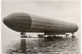The Zeppelin LZ2, Friedrichshafen, 1905 Photographic Print by  German photographer