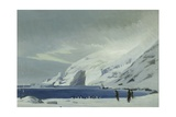 Looking East from Lookout Point, Men and Penguins, Elephant Island, 1916 Giclee Print by George Marston
