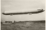 The Zeppelin LZ3 in Flight, Friedrichshafen, Between 1906-7 Photographic Print by  German photographer