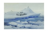 Look Out from a Camp on a Large Ice Floe, Weddell Sea Giclee Print by George Marston