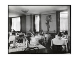 A Dining Room at the Hotel Majestic, 1916 or 1917 Giclee Print by  Byron Company