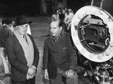 Vittorio de Sica and Roberto Rossellini on the Set of the Film 'Il Generale Della Rovere', 1959 Photographic Print