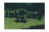 Scare in a Pack Train, 1908 Giclee Print by Frederic Sackrider Remington