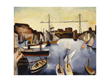 Marseilles Harbour, 1927 Giclee Print by Christopher Wood