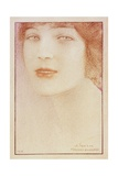 Portrait of a Woman, 1912 Giclee Print by Fernand Khnopff