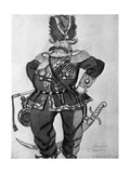 Costume Sketch for the Stage Production of 'The Flea', 1925 Giclee Print by Boris Mikhailovich Kustodiev