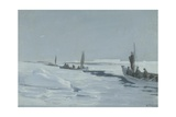 Sailing Towards Elephant Island Through Open Pack Ice, Weddell Sea Giclee Print by George Marston