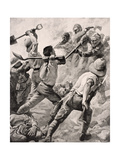 Turkish and British Soldiers in Hand to Hand Combat on the Gallipoli Peninsula Turkey 1915, from… Giclee Print by  English School