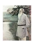 Portrait of Leo Tolstoy Giclee Print by Mikhail Vasilievich Nesterov