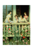 The Balcony, 1911 Giclee Print by Eugen Von Blaas