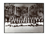 Waiters at Hotel Delmonico, 1902 Giclee Print by  Byron Company
