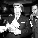 The Nobel Prize Laureate Pablo Neruda Presents His Latest Book 'Fine Del Mondo' in Milan, 10th… Photographic Print