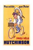 Advertisement for Hutchinson Tyres, c.1937 Reproduction procédé giclée par Michel, called Mich Liebeaux