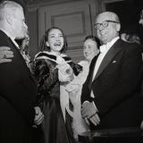 Maria Meneghini Callas with Giovanni Gronchi at the Inauguration of the Theatre Season at La… Fotografie-Druck