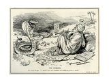 Lloyd George Charming the Serpent of Unemployment, 1921 Giclee Print by Leonard Raven-hill