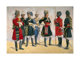 British Officers, Indian Army, Illustration for 'Armies of India', Published in 1911, 1910 Giclee Print by Alfred Crowdy Lovett